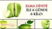 Bir haftada 6 kilo verdiren elma diyeti