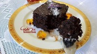 Islak Kek(sosu çikolatalı)