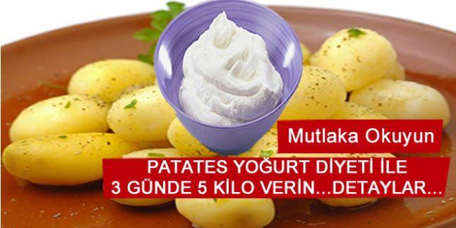 Patates Diyeti İle 3 günde 5 Kilo Verin